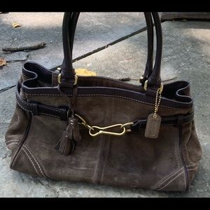 Olive Colored Coach Bag - Gently used